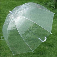 Wholesale LOOK BEST SELLING clear plastic umbrella Crystal Umbrella