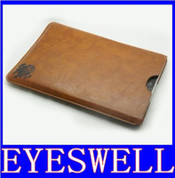 Wholesale 7 inch brown google leather case skin cover bag for android tablet pc epad netbook laptop