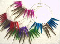 South American basketball wives rings - NEW basketball wife earrings inspired Seven color spikes bead cone beads ear ring