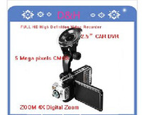 Wholesale FULL HD High Definition Video Recorder Car DVR with x digital Zoom Vehicle DVR Lens degree