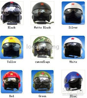 Wholesale colors Chinese Air Force Jet Pilot Motorbicycle Helmet M L XL XXL