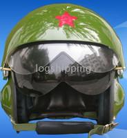 Wholesale TK Chinese Air Force Replica Fighter Jet Pilot Motorcycle Green Helmet Casco Casque M L XL XXL