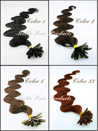 Wholesale 1 quot In Stock U tip Pre bonded Brazilian Hair g strand g set Extension Body Wave