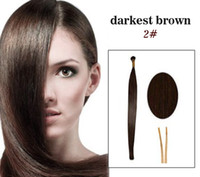 Wholesale 20 quot In Stock I tip Pre bonded Brazilian Hair Extensions g strand Straight Color Human Hair Extension