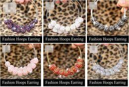 Wholesale Basketball Wives Earrings Poparazzi Inspired Hoop Earring Beads Basketball Wives Earring