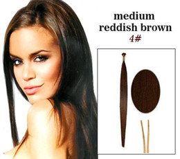Wholesale 4 quot In Stock Stick I tip Pre bonded Brazilian Human Hair Extension g strand g set Straight