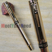 Wholesale CROCODILE A EXECUTIVE MEDIUM NIB FOUNTAIN PEN GOLDEN MESH