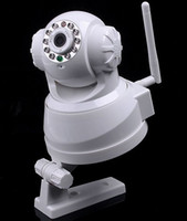 Wholesale 10 IR LED WiFi Wireless IP Camera Webcam Web CCTV Camera wireless Nightvision WPA Wireless Internet