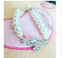Wholesale S043 Jewelry Korea Lee Hyo lee diamond pearl UFO bracelet