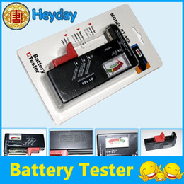 Wholesale Durable cell tester Battery Capacity Volt checker Universal Handheld TST V AA C D V Button BT168