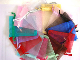 100pcs 9X12cm Multi Colors jewelry gift pouch wedding organza bags Wedding Favor Party
