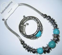 SET Turquoise NECKLACE bangle bracelet Necklace Womens necklace 10 pcs lot #2012