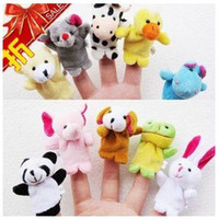 Wholesale Baby Toy Hand puppet animal finger puppet double layer animal finger puppet set