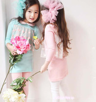Wholesale 2012 new Kids Dress cotton chiffon long sleeved Dresses blue pink round collar velvet mud pie Skirts