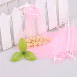 500pcs 7x9cm Pink jewelry gift pouch wedding organza bags Wedding Favor Party