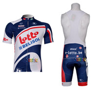 Wholesale 2012 Lotto Cycling Jersey and Bib shorts