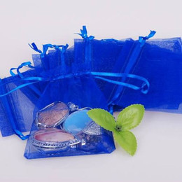 500pcs 7x9cm Royal Blue jewelry gift pouch wedding organza bags Wedding Favor Party