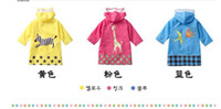 Wholesale 2012 New SMALLY Lovely Big Ears Children Raincoat Nylon waterproof fabric three color