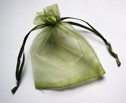 500pcs 7x9cm Moss green jewelry gift pouch wedding organza bags Wedding Favor Party