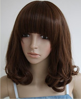 Wholesale 2012 Natural Black Swiss Full Lace Human Hair Wigs NEW421