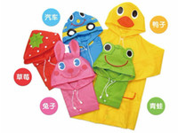 Wholesale 2012 New Lovely Cartoon animal style children raincoat poncho dandys