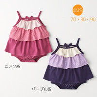 Girl Summer 100% Cotton Baby rompers onesies baby bodysuits shortalls gallus vests top dresses girls jumpers jumpsuits YX522