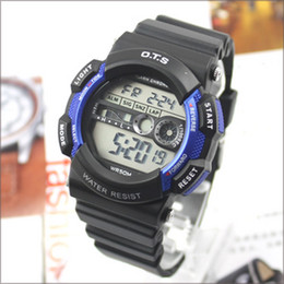 Wholesale Hot colors New Ots Electronic multifunctional Sports waterproof Watch wristwatch students men watches T6900G