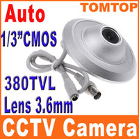 Wholesale 1 quot CMOS Ceiling UFO Flying Saucer PAL CCTV Security Surveillance Camera not ip camera S150