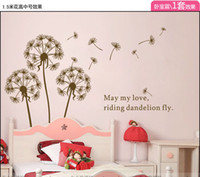 Wholesale 1 M High Wall Stickers Removable Dandelion Flower Wall Decoration Tree in the wind Wall Art Wall Pa