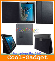 Wholesale Leather Case Smart Cover Stand for the new iPad HD Hot Selling IPAD3C01