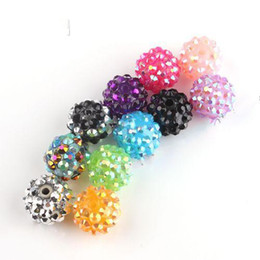 Wholesale Mixed Acrylic Rhinestone Iced Charms Disco Beads mm Fit Beads Bracelets
