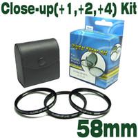 Emolux 58mm(+1,+2,+4) Kit digital de CERCA de Filtro de PRIMER plano del Filtro Perfecto para la fotografía macro