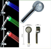 Wholesale LED Hand Shower Head Temperature Sensor Color changing Novelty for Home Hotel