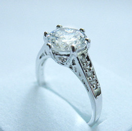 3.1CT GORGEOUS SAPPHIRE 14KT WHITE GOLD RING -SW045