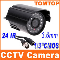 Wholesale 24 LED Waterproof Outdoor IR Night vision CCTV Camera CMOS PAL surveillance security camera IP S146