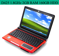 Wholesale Mini Laptop PC inch S30 Intel Atom D425 GHz Win7 OS Laptops