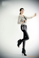 Women Skinny,Slim Other Sexy Black Wet Look Faux Leather Leggings Treggings Pants Shiny Tights One size#2605