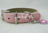 Wholesale Pink cat collars flower pendant frre pet collars and leashes cat products mix order ok