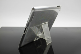 Wholesale Supper Slim Crystal Clear Cases Case Stand for ipad ipad2 Tablet PC Cover