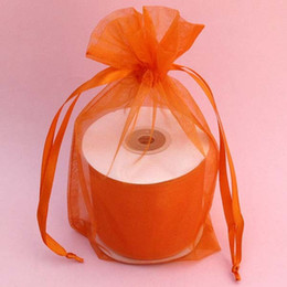 100pcs 9X12cm Orange jewelry gift pouch wedding organza bags Wedding Favor Party