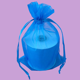 100pcs 9X12cm Turquoise jewelry gift pouch wedding organza bags Wedding Favor Party