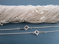 Wholesale inch Plated Silver Link chain with Lobster clasp mmx2mm