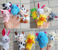 Wholesale Animal Finger puppets finger dolls Stories Finger dolls design in one set gifts ghb