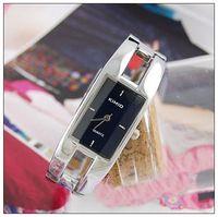 Quartz auto jewelry - 2pcs color NEW Massive black stainless steel luxury jewelry bangle womens Watches K97