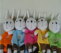 Backpacks Blue Cotton Fabric Cute Metoo Rabbit children backpack mix color 10pcs lot via DHL