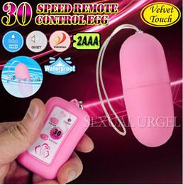 Wholesale 30 frequency Remote control dull polis Egg Telecontrol Vibrating Egg Wireless Egg Vibrator Sex Toys