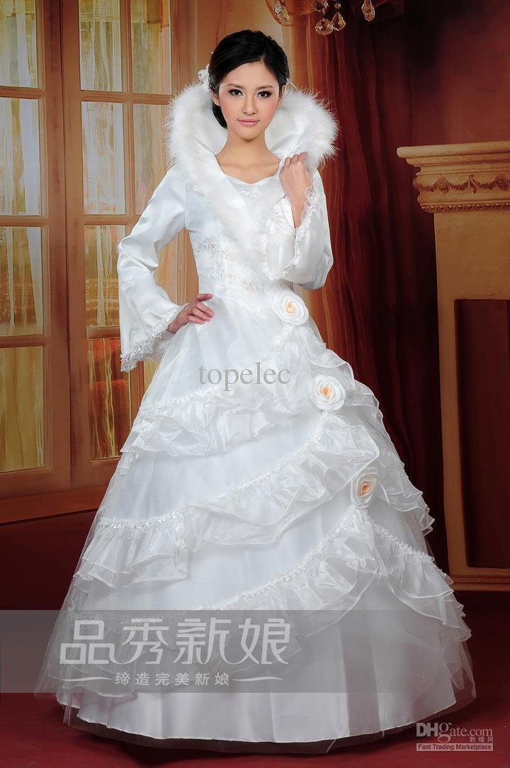 New style winter wedding dress bridesmaid dresses fashion for Winter style wedding dresses