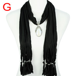Fashion Jewelry neck scarf women ,7colors,fashion women's jewelry resion drop pendants scarves fashion accessories ,NL-1678