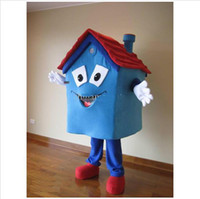 Wholesale Hot Sale Blue House Mascot Costume High Quality House Costume Party Carnival Fancy Dress Costume