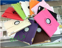 Wholesale 360 degree Rotating PU Leather Cover Case for ipad ipad with magnet